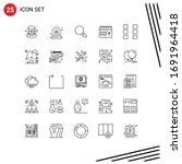 mobile interface line set of 25 ...