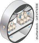 diagram showing air circulation ...   Shutterstock .eps vector #1691976508
