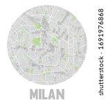 minimalistic milan city map... | Shutterstock .eps vector #1691976868