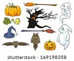 halloween theme set.  | Shutterstock . vector #169198358