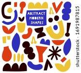 abstract modern shapes   vector ... | Shutterstock .eps vector #1691987815