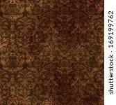 Seamless Vintage Brown Damask...