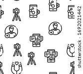 blogger internet social channel ... | Shutterstock .eps vector #1692021442