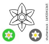 narcissus flower thin line... | Shutterstock . vector #1692041365