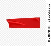 red duct repair tape isolated... | Shutterstock .eps vector #1692061372