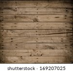 Stock photo background brown color nature pattern detail of pine wood decorative old box wall texture 169207025