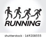 running idea in vector... | Shutterstock .eps vector #169208555