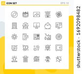 25 user interface line pack of...   Shutterstock .eps vector #1692098482