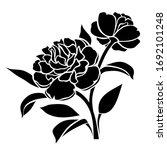 vector black silhouette of... | Shutterstock .eps vector #1692101248