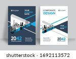 corporate book cover design... | Shutterstock .eps vector #1692113572