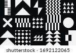 pattern square tiles. graphic... | Shutterstock .eps vector #1692122065