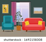 living room interior with sofa... | Shutterstock .eps vector #1692158308