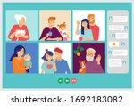 family  grandparents  children  ... | Shutterstock .eps vector #1692183082
