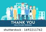 medical staff facing hospital ... | Shutterstock .eps vector #1692211762