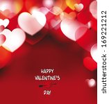 holiday background with hearts | Shutterstock .eps vector #169221212