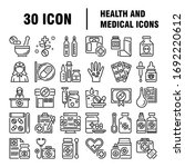 medical icon set in line style. ... | Shutterstock .eps vector #1692220612