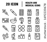 medical icon set in line style. ...   Shutterstock .eps vector #1692220678