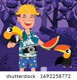 lifestyle painting exploring...   Shutterstock . vector #1692258772