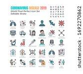 simple set of coronavirus... | Shutterstock .eps vector #1692270862