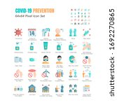 simple set of coronavirus... | Shutterstock .eps vector #1692270865