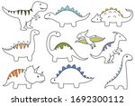 Set Of Dinosaur. Collection Of...
