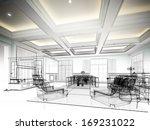 sketch design of interior living | Shutterstock . vector #169231022