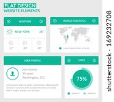 flat ui design website elements ...
