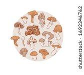 isolated vector mushroom... | Shutterstock .eps vector #1692346762