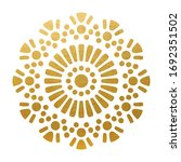 beautiful oriental mandala  ... | Shutterstock .eps vector #1692351502