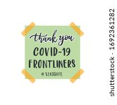 thank you covid 19 frontliners. ... | Shutterstock .eps vector #1692361282