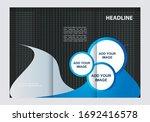 vector empty tri fold brochure... | Shutterstock .eps vector #1692416578