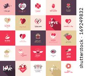 big set of icons for valentines ... | Shutterstock .eps vector #169249832