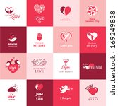 set of love and romantic icons... | Shutterstock .eps vector #169249838