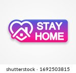 stay home icon  sign  label ...