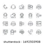 set of call  related vector... | Shutterstock .eps vector #1692503908