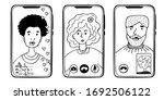 phones with people using... | Shutterstock .eps vector #1692506122