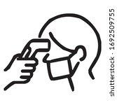 check body temperature before... | Shutterstock .eps vector #1692509755