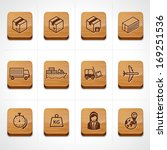 Logistic & shipping and cargo icons. Vector illustration. - stock vector