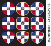 dominican republic flag vector...   Shutterstock .eps vector #1692519148