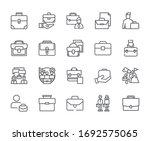 set of briefcase related vector ...   Shutterstock .eps vector #1692575065