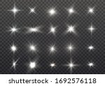 white glowing light explodes on ... | Shutterstock .eps vector #1692576118