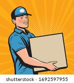 delivery person worker... | Shutterstock .eps vector #1692597955