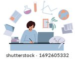 online education for students....   Shutterstock .eps vector #1692605332