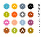 arrows set in circles | Shutterstock .eps vector #169260632