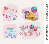 set of illustrations. the... | Shutterstock .eps vector #1692614185