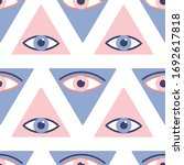 seamless pattern with evil eyes ... | Shutterstock .eps vector #1692617818