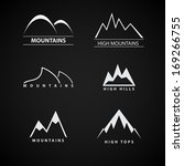 set of mountains symbols | Shutterstock .eps vector #169266755
