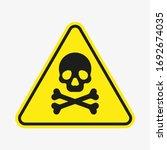 vector toxic poison icon...   Shutterstock .eps vector #1692674035
