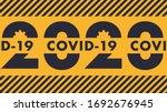 warning 2020 year covid 19... | Shutterstock .eps vector #1692676945