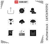 9 universal solid glyphs set...